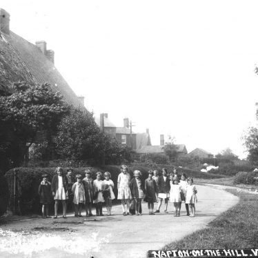 Napton on the Hill.  Group of village children