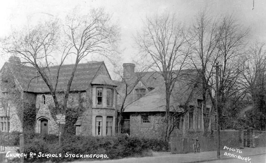 Church Road Schools at Stockingford. House on left was schoolmaster's house.  1900s |  IMAGE LOCATION: (Nuneaton Library)