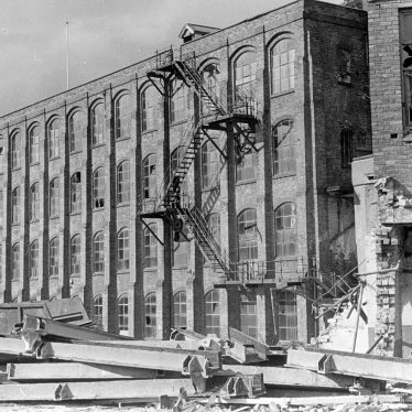 Attleborough.  Lister & Co. Ltd Mills, during demolition