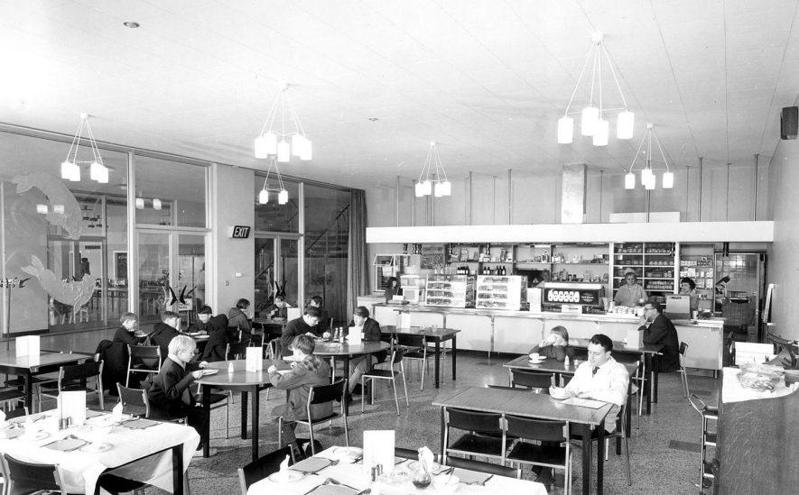 Restaurant at Pingles Sports Centre, Nuneaton.  1960s |  IMAGE LOCATION: (Nuneaton Library)