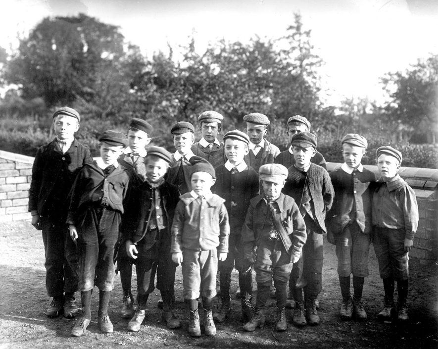 Group of schoolboys, Astley.  1899 |  IMAGE LOCATION: (Nuneaton Library)