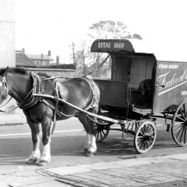 Bedworth.  Horse drawn bread delivery van