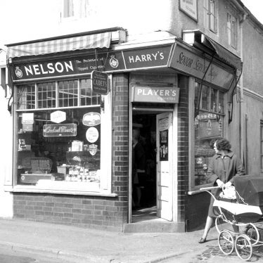 Bedworth.  Mill Street, corner shop