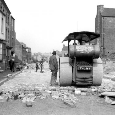 Bedworth.  Road works