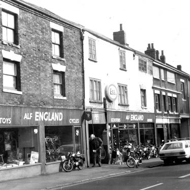 Bedworth.  King Street, Alf England's cycle shop