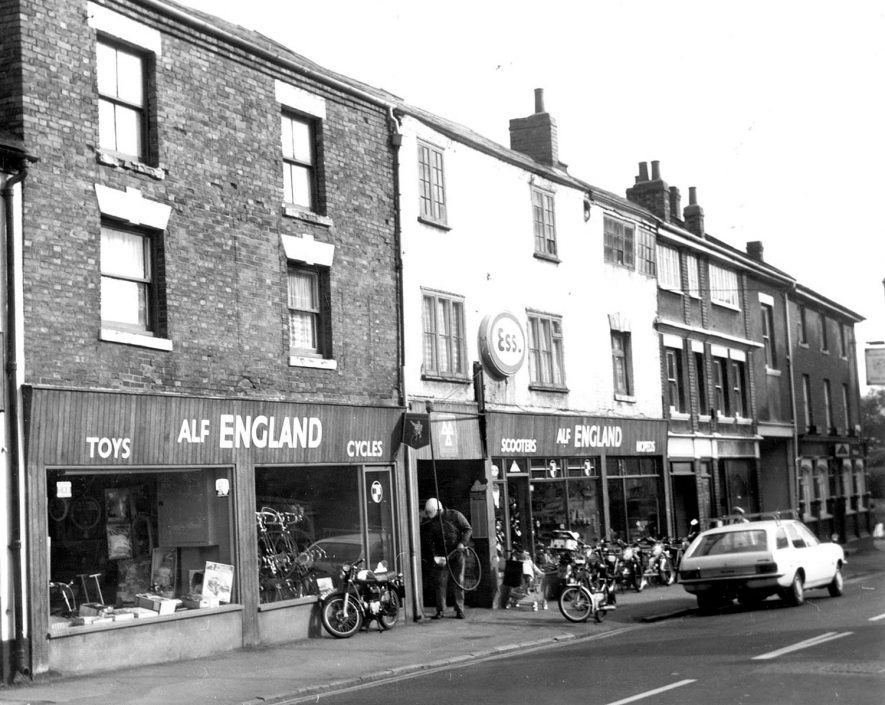 Alf England's cycle shop in King Street, Bedworth. 1970s[It has been suggested this shop is actually the one on High Street, the one in King Street looked different.] |  IMAGE LOCATION: (Bedworth Library)