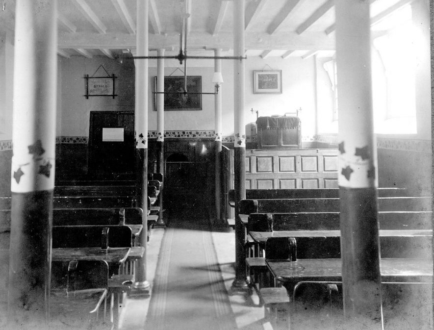 Interior of College Chapel at Chilvers Coton workhouse.  1900s |  IMAGE LOCATION: (Nuneaton Library)