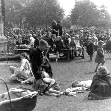 Nuneaton.  Riversley Park on V.E. Day