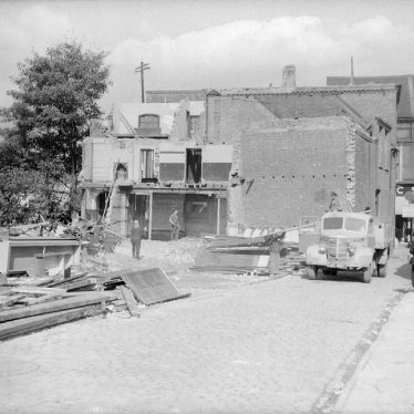 Nuneaton.  Bridge Street shops, demolition works