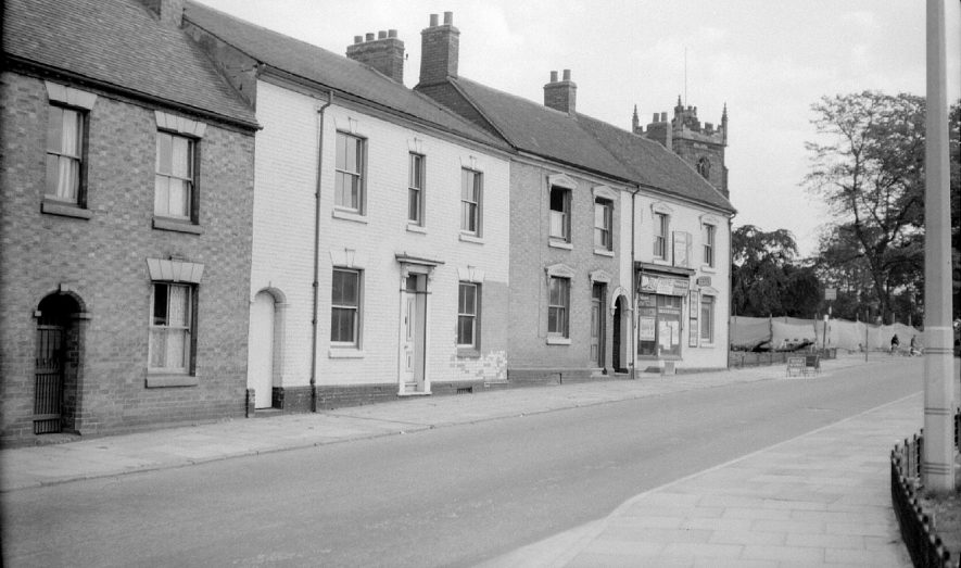 Property in Church Street before demolition, Nuneaton.  September 26th 1959 |  IMAGE LOCATION: (Warwickshire County Record Office)