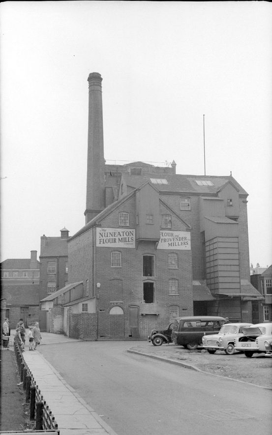 The Flour Mills, photographed from near Church Street.  1962 |  IMAGE LOCATION: (Warwickshire County Record Office)