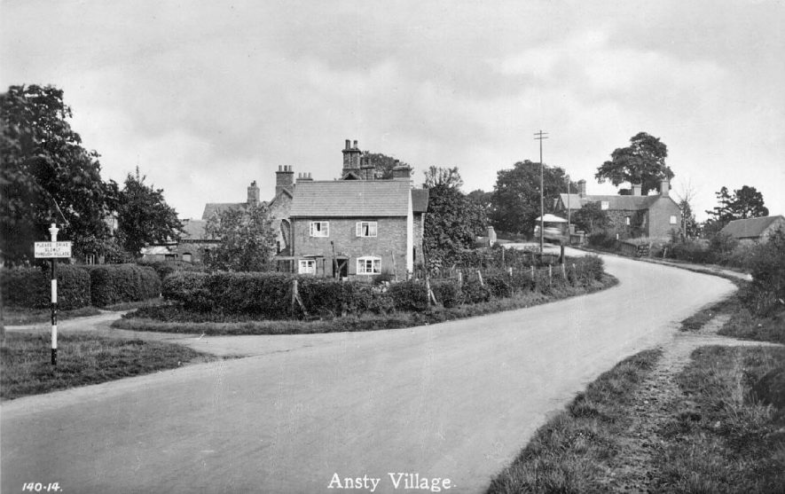 Village scene, showing houses in Ansty.  1930s |  IMAGE LOCATION: (Warwickshire County Record Office)