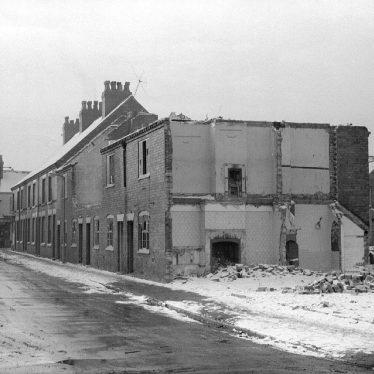 Nuneaton.  Windsor Street, demolition works