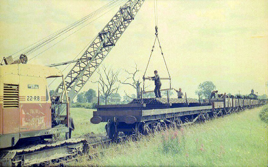 Rail lifting work near the Willey Crossing.  July 6th 1964 |  IMAGE LOCATION: (Warwickshire County Record Office)