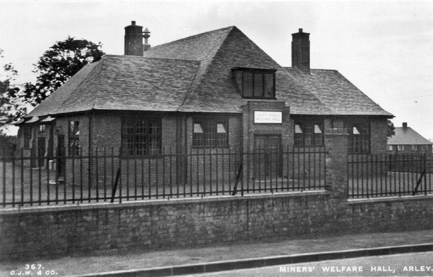 Miners Welfare Hall , Arley.  !930 | IMAGE LOCATION: (Warwickshire County Record Office)