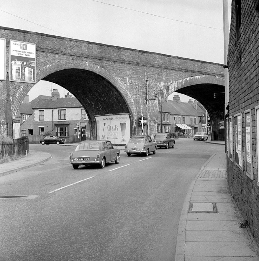 View of Coton Arches from Coventry Road, Chilvers Coton.  September 17th 1966 |  IMAGE LOCATION: (Warwickshire County Record Office)