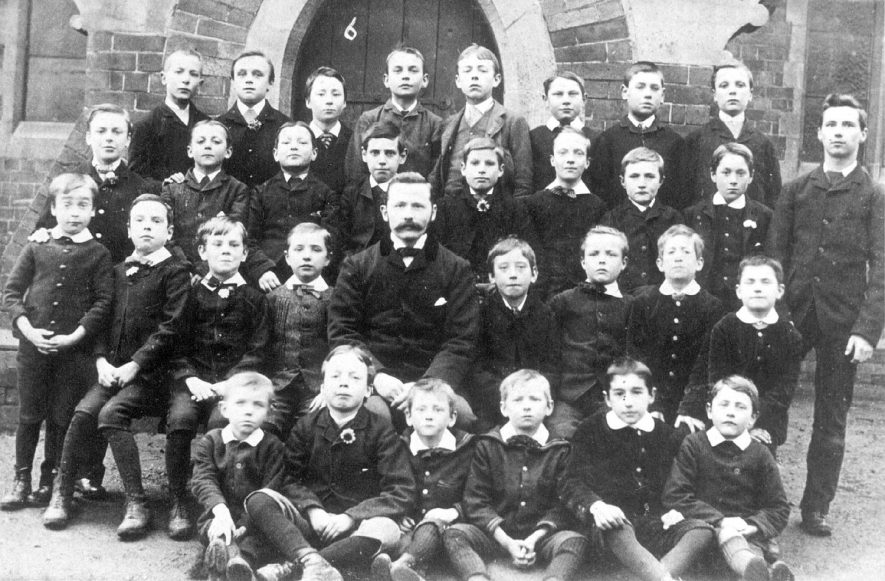 Group of schoolboys and teacher, Coleshill.  1900 |  IMAGE LOCATION: (Warwickshire County Record Office)