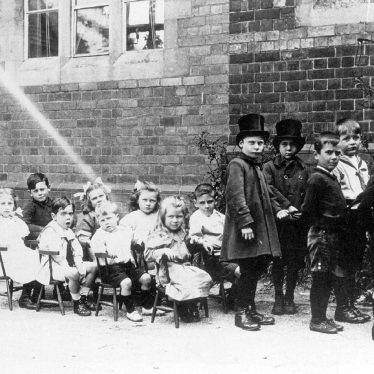"Coleshill.  Children formed up as ""a coach"""