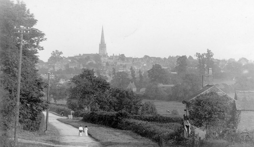 View of Coleshill from Grimscote Hill.  1910s |  IMAGE LOCATION: (Warwickshire County Record Office)