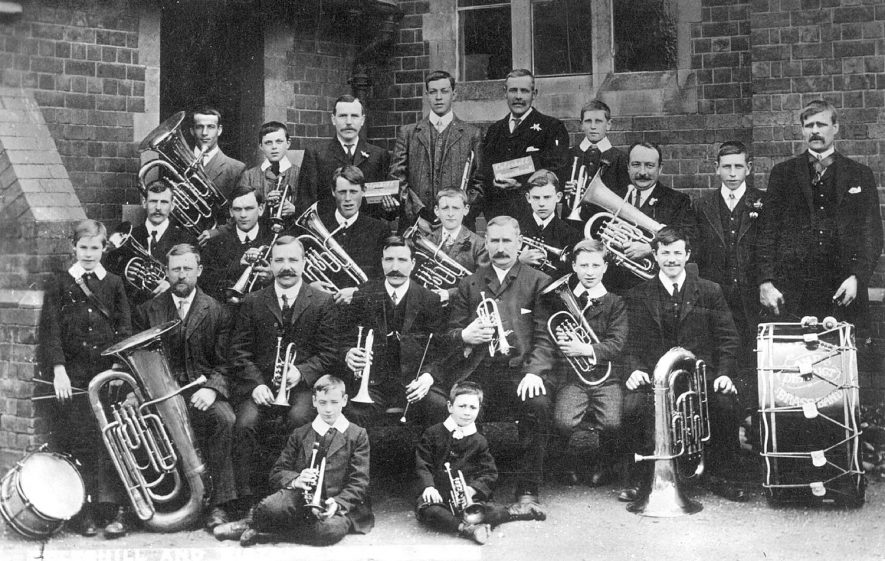 Coleshill and District brass band.  1910s |  IMAGE LOCATION: (Warwickshire County Record Office)