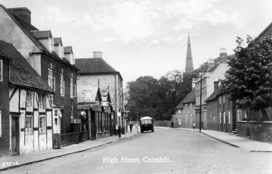 View of High Street, Coleshill.  1900s |  IMAGE LOCATION: (Warwickshire County Record Office)