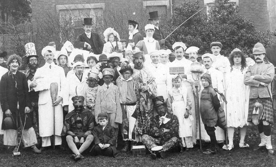 Fancy dress at a hospital fete.  1908 |  IMAGE LOCATION: (Warwickshire County Record Office)