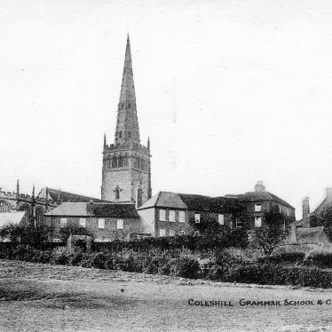 Coleshill.  Church and Grammar School