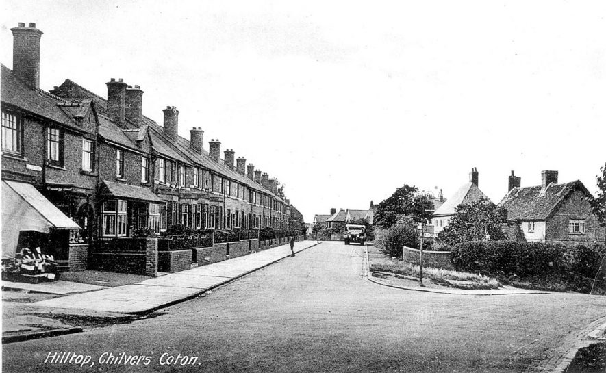 Terraced houses in Hill Top, Chilvers Coton.  1920s |  IMAGE LOCATION: (Warwickshire County Record Office)