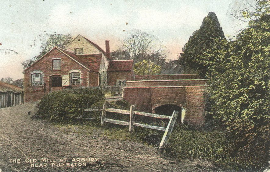 The Old Mill at Arbury.  1900s |  IMAGE LOCATION: (Warwickshire County Record Office)