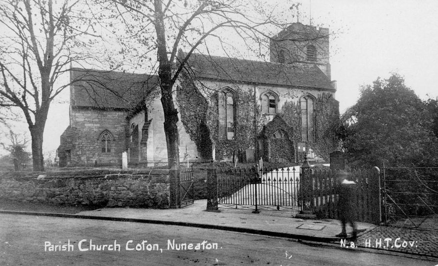 All Saints Church, Chilvers Coton.  1910s |  IMAGE LOCATION: (Warwickshire County Record Office)