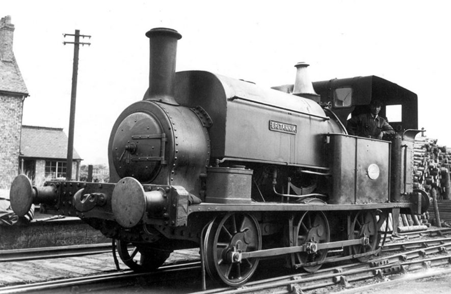 Railway engine at Griff Colliery, Griff.  1950s |  IMAGE LOCATION: (Warwickshire County Record Office)