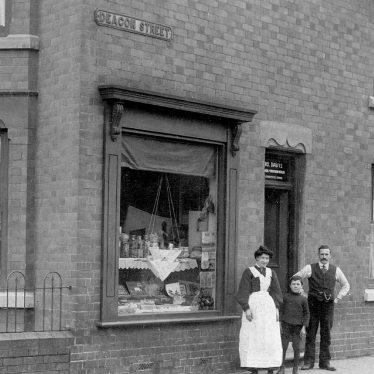 Chilvers Coton.  Edward Street / Deacon Street shop