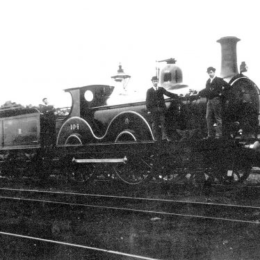 Arley.  Midland Railway 2-4-0 No. 104