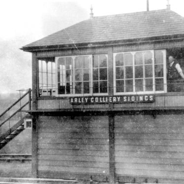 Arley.  Railway signal box