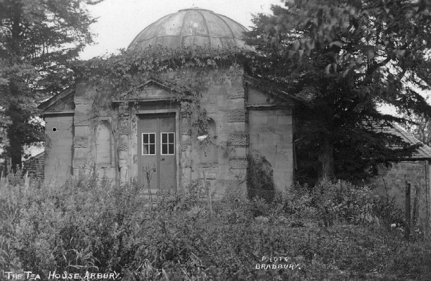 Tea house at Arbury.  1920 |  IMAGE LOCATION: (Warwickshire County Record Office)