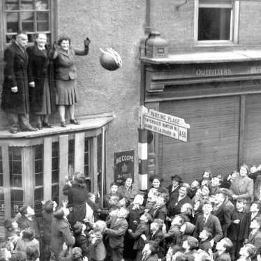 Atherstone.  Shrove Tuesday Ball Game