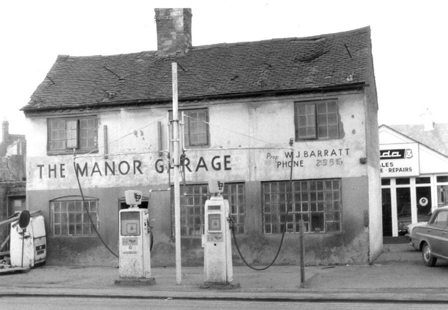 The Manor Garage (Weavers Cottages), Nuneaton.  1950s |  IMAGE LOCATION: (Warwickshire Museums. Photographic Collections.)