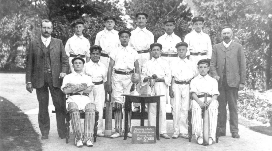 Shustoke cricket team, winners of the Midland Schools Athletic Association.  1906 |  IMAGE LOCATION: (Warwickshire Museums. Photographic Collections.)