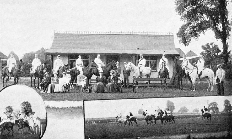 The Warwickshire Polo Club, which had its headquarters in Leamington.  c.1905 |  IMAGE LOCATION: (Warwickshire County Record Office)