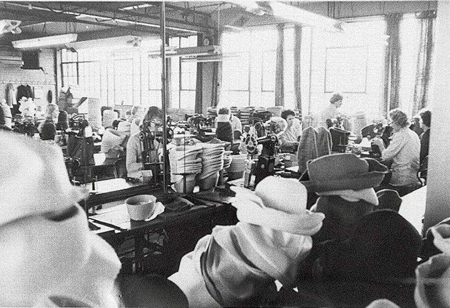 Workers in Wilson & Stafford Ltd. hat making factory in Atherstone.1970s |  IMAGE LOCATION: (Warwickshire Museums. Photographic Collections.)