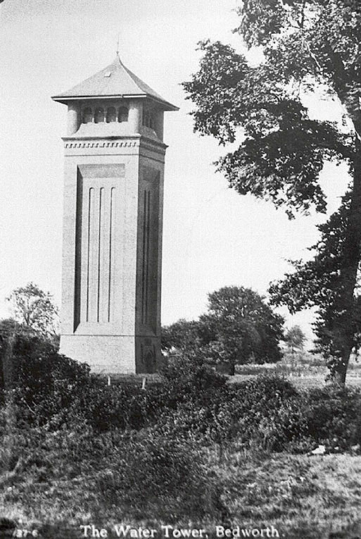 Bedworth Water Tower.  1930s |  IMAGE LOCATION: (Warwickshire Museums. Photographic Collections.)