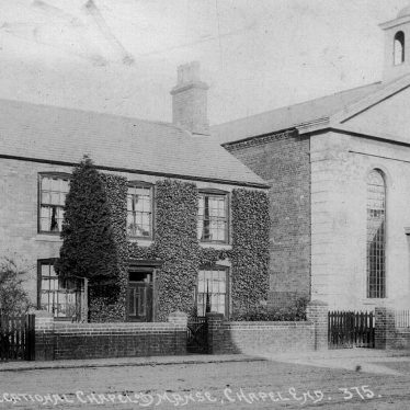 Nuneaton.  Chapel End, Congregational chapel and manse