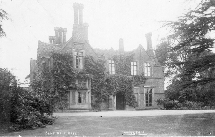Exterior of Camp Hill Hall, Nuneaton.  1900s |  IMAGE LOCATION: (Warwickshire County Record Office)