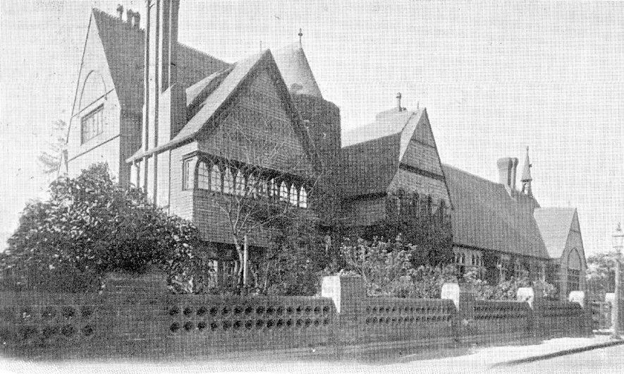 King Edward VI Grammar School, Nuneaton.  1900s |  IMAGE LOCATION: (Warwickshire County Record Office)