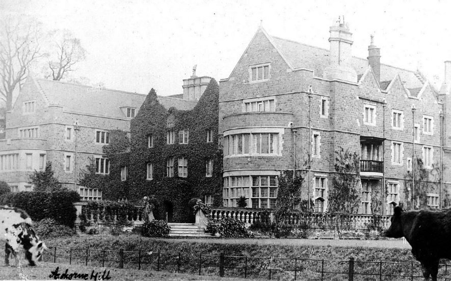 Ashorne Hill showing front elevation, terrace and haha.  1900s |  IMAGE LOCATION: (Warwickshire County Record Office)