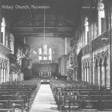 Nuneaton.  Abbey Church interior