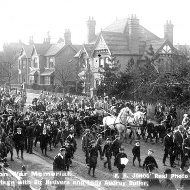 Nuneaton.  Unveiling of Boer War Memorial
