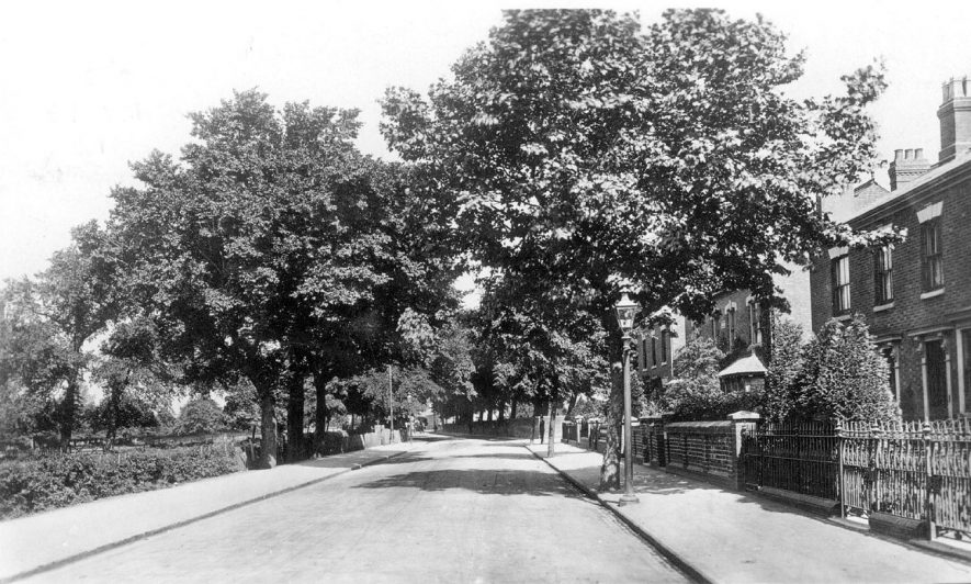 View along Attleborough Road, Nuneaton.  1910s |  IMAGE LOCATION: (Warwickshire County Record Office)