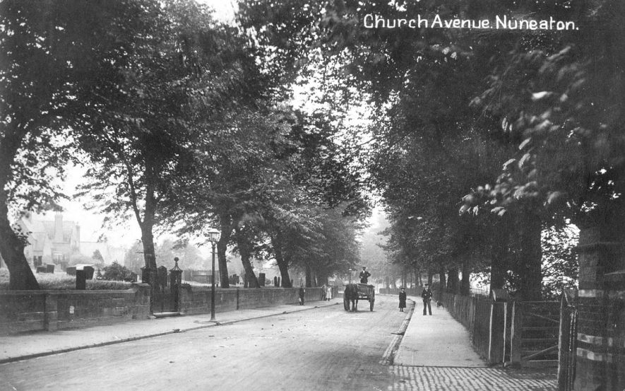 A view along Church Avenue, Nuneaton.  1910s |  IMAGE LOCATION: (Warwickshire County Record Office)