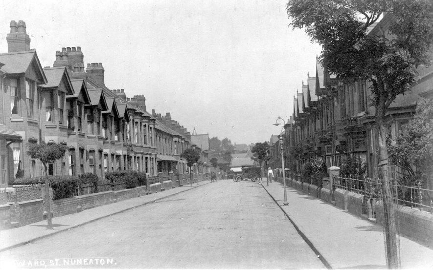 A view along Edward Street, Nuneaton.  1922 |  IMAGE LOCATION: (Warwickshire County Record Office)